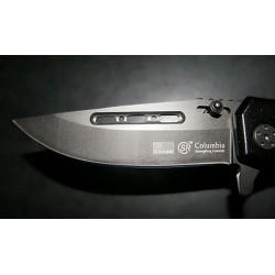 Couteau SR Columbia noir mat et lame ultra résistante