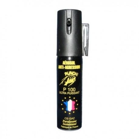 bombe lacrymogene punch 25ml gaz