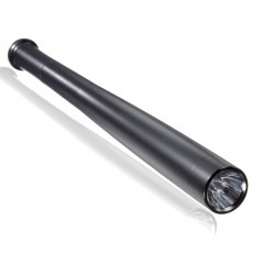 Matraque batte de Baseball NOIRE en Aluminium avec Lampe 43.8cm