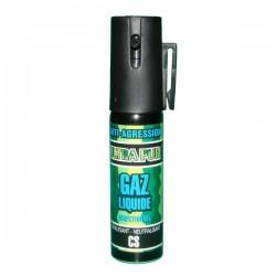 Bombe lacrymogène GAZ Liquide 25 ml