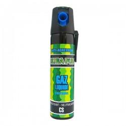 Bombe lacrymogène C.S GAZ Liquide 75 ml