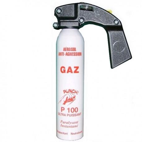 BOMBE DE DEFENSE ANTI AGRESSION CS GAZ PUNCH P100 300ML