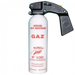 SPRAY SELF DEFENSE LACRYMOGÈNE GAZ PUNCH P100 500ML