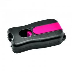 Shocker électrique poing compact Rose et Noir avec LED 3.8 millions de Volts