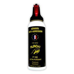 Bombe lacrymogène PUNCH - Spray puissant en GAZ 100 ml