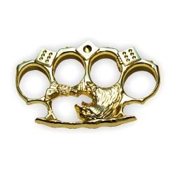 Poing américain symbole Aigle doré 11mm