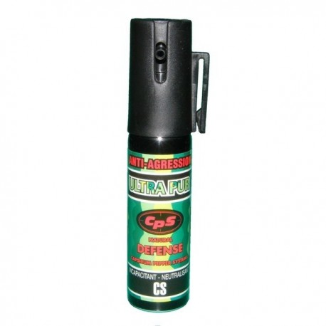Bombe lacrymogène 25ml POIVRE - ULTRAPUR