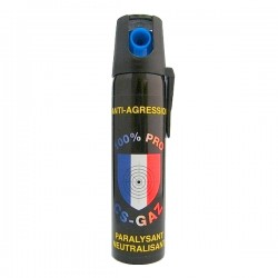 Bombe anti agression lacrymo GAZ PRO 75 ml