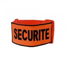 "Brassard Brodé ""SECURITE"" Tissu Orange"