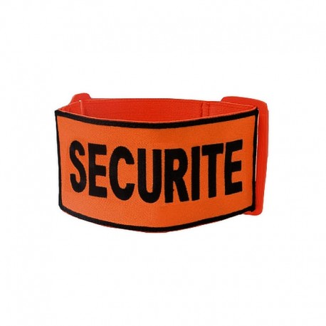 "Brassard Brodé ""SECURITE"" Tissu Orange"
