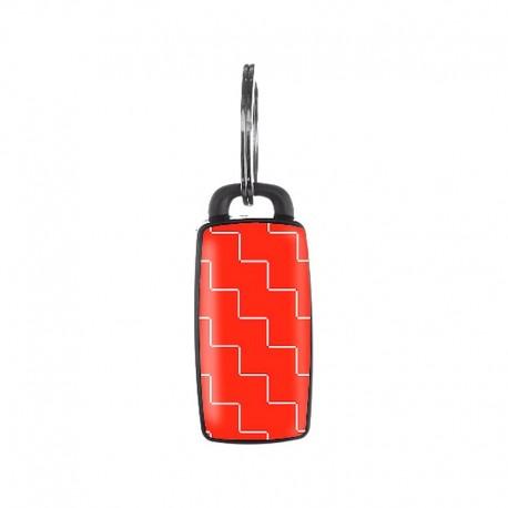 Porte clé siffleur anti perte pour ne plus égarer vos clé Noir & blanc de 6 cm
