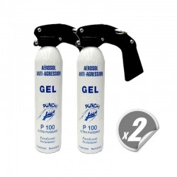 Pack de 2 bombes de défenses grand format CS GEL PUNCH P100 300 ml
