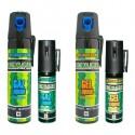 Bombes lacrymogènes C.S 25 ml et 75 ml (pack de 4)