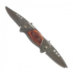 Couteau de poche DOUBLE lame lisse et résistante