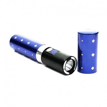 Shocker taser électrique modèle discret 2 millions Volts bleu avec Lampe LED