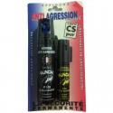 Duo Aérosol lacrymogène PUNCH P100 - Spray GEL 75 ml+ GAZ 25 ml