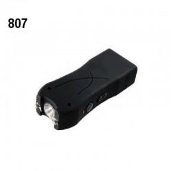 Shocker électrique MODELE COMPACT 807 lampe torche 6 500 000 volts NOIR