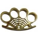 Poing américain symbole toile d araignée doré 12mm